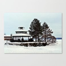 Gazebo on the Lake Canvas Print