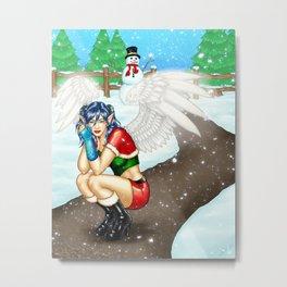 Morigan: Snow Angel Metal Print