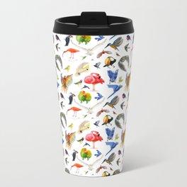 Rainbow Birds Metal Travel Mug