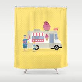 Love ice cream Shower Curtain