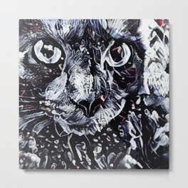 Abastract Cat Metal Print