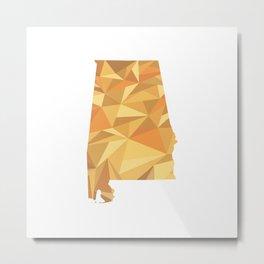 Alabama Pattern Map Art Metal Print