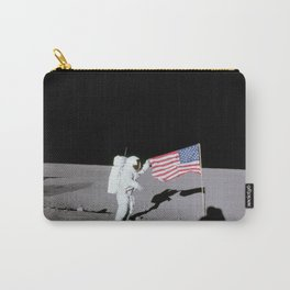 Apollo 12 - Astronaut American Flag Moon Carry-All Pouch