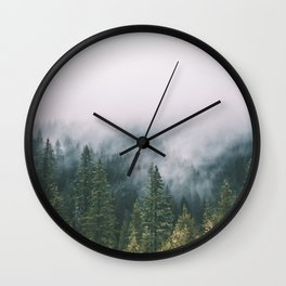 Forest Fog XI Wall Clock
