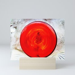 Round Red Glass Bottom Mini Art Print