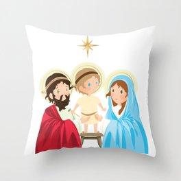 The Holy Family. Christmas Throw Pillow