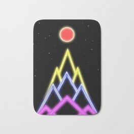 Neon Red Moon Bath Mat