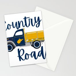 Country Roads West Virginia Pickup Truck WV Gifts Stationery Cards