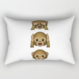 Don't see hear speak Rectangular Pillow