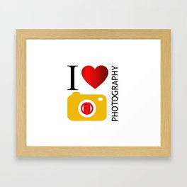 I love photography- Photography lovers passion- yellow camera Framed Art Print