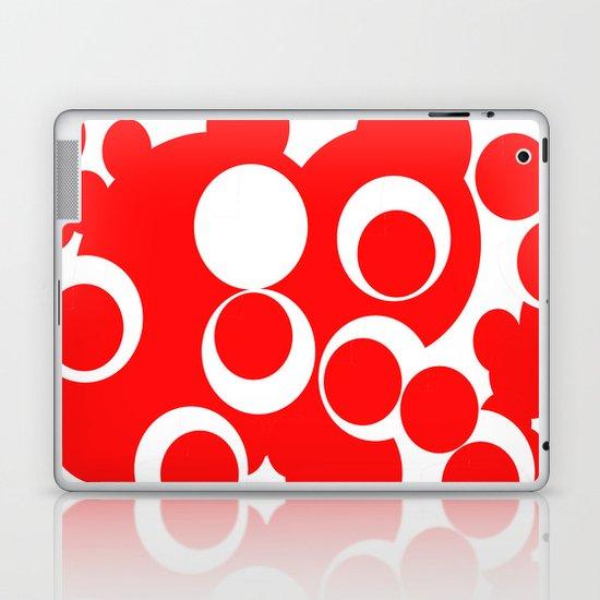 red circles Laptop & iPad Skin