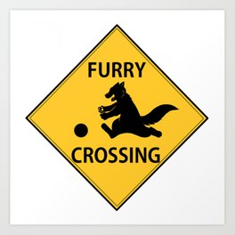 Furry crossing Art Print