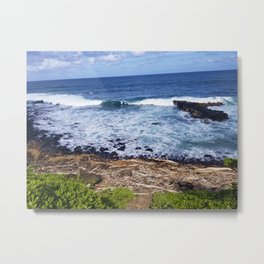 Waves In And Out Metal Print