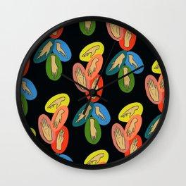 Hand Gems Wall Clock