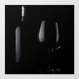 Black Wine Canvas Print