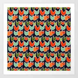 Ruby's Tulips Art Print