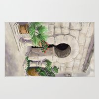 arab Area & Throw Rugs featuring Arab Baths Palma de Mallorca DP151029b-14 by CSteenArt