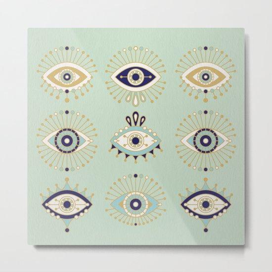 Evil Eye Collection Metal Print