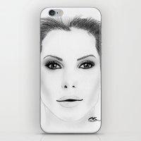 sandra dieckmann iPhone & iPod Skins featuring Sandra Bullock by Paint the Moment
