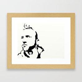 Tom Jones in stencil Framed Art Print