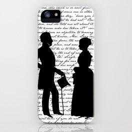 Pride and Prejudice design - White iPhone Case