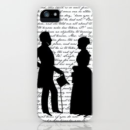 Pride and Prejudice design - White iPhone Case