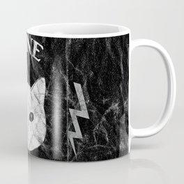 Nine Lives Black Background Coffee Mug
