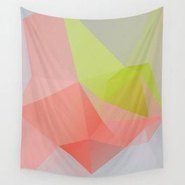 Fresh / Poster, scandinavian, art print, drawings, paintings, illustration, low poly, geometric Wall Tapestry