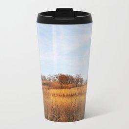 Golden Autumn Savanna Travel Mug