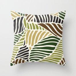 neutral leaf Throw Pillow