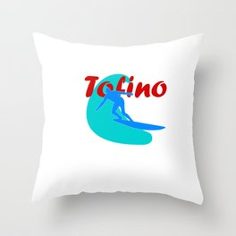 Surfer in Tofino Throw Pillow
