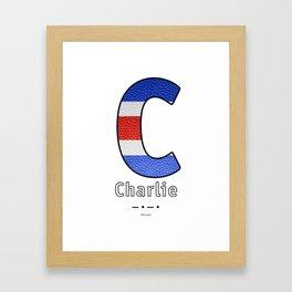 Charlie - Navy Code Framed Art Print