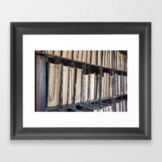 Books in chains Framed Art Print
