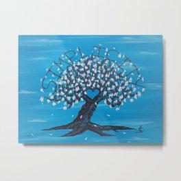 Simplicity Love Tree Art Metal Print