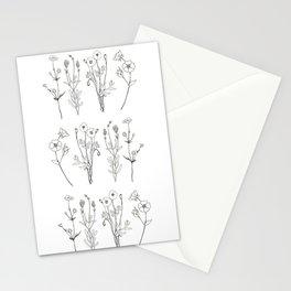 Ink flower stems Stationery Cards