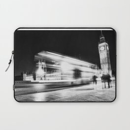 Bus passing Westminster B&W Laptop Sleeve