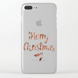 Rose gold Christmas Clear iPhone Case