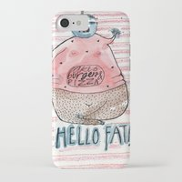 fat iPhone & iPod Cases featuring FAT by PranitaKocharekar