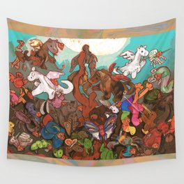 The Fall of the Rebel Plushies Wall Tapestry