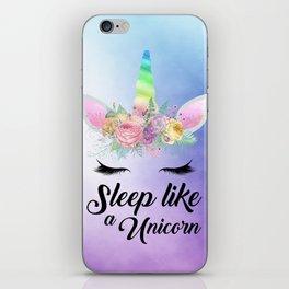 Sleep Like A Unicorn iPhone Skin