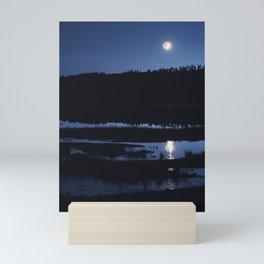 Marsh Moonset Mini Art Print