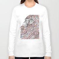 ape Long Sleeve T-shirts featuring Ape by Guillem Bosch