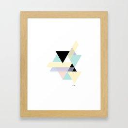 Pastel Geo Framed Art Print