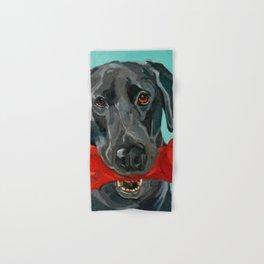 Ozzie the Black Labrador Retriever Hand & Bath Towel
