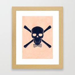 """""""Skull with Class"""" Framed Art Print"""