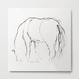 Horse (Pasturing) Metal Print