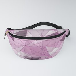 Abstract pink gray modern geometrical pattern Fanny Pack