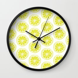 Sliced Lemon Wall Clock
