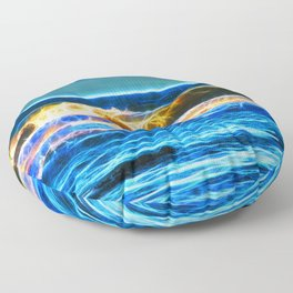 Abstract rolling waves Floor Pillow