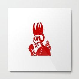 Skeleton King Metal Print